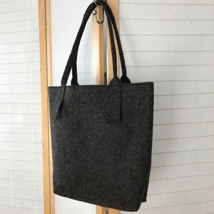 grey felt top handle tote from Germany